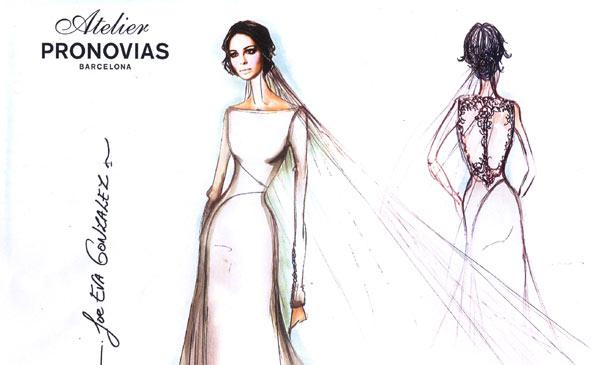 adelantamos el boceto del vestido que ha lucido eva gonzález