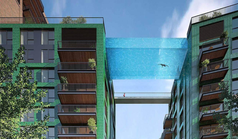 Una piscina… para volar entre edificios