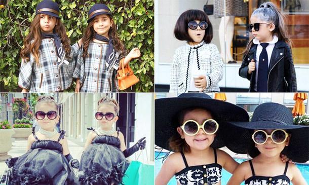 ¿Las 'it-girl' nacen o se hacen? Unas gemelas de cuatro años tienen la clave...