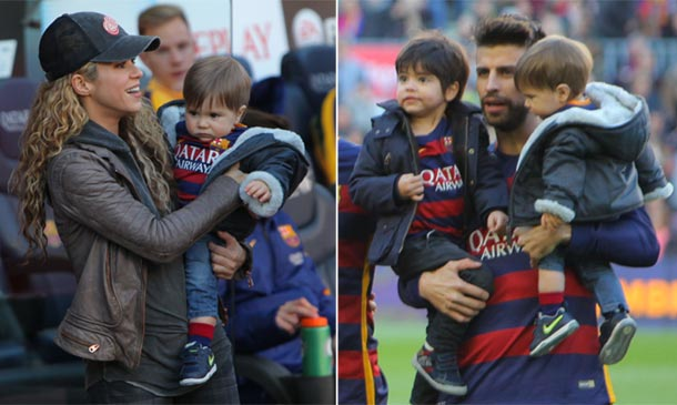 Milan, Sasha y Shakira, los mayores fans de Gerard Piqué