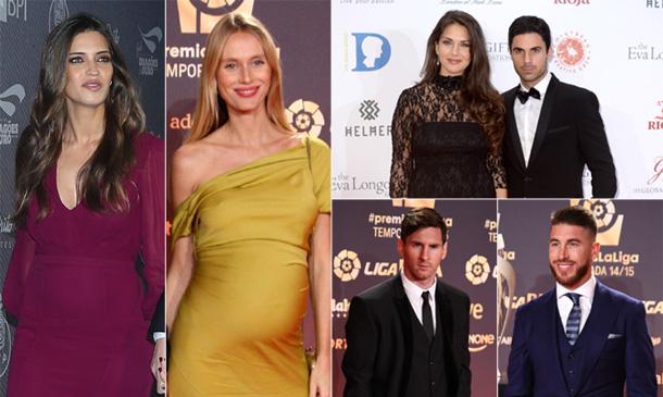Dos premamás, dos recientes papás y una cita con Victoria Beckham... ¡Los detalles de una velada muy futbolera!