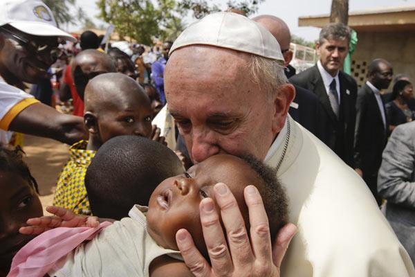 Papa Francisco en su viaje a Africa
