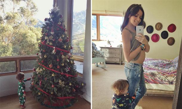 Raquel del Rosario prepara con su hijo Leo la llegada de la Navidad... y la de su nuevo hermanito