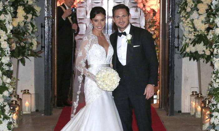 La romántica boda del futbolista Frank Lampard y la presentadora ...