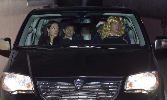 La familia del rey Juan Carlos celebra la Nochebuena en casa de doña Pilar