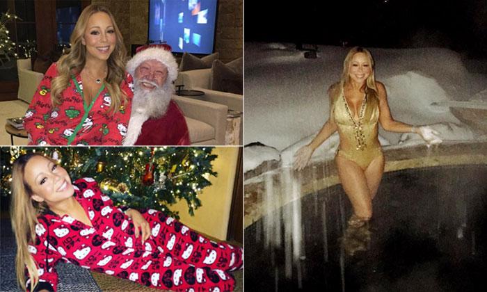 Mariah Carey no pone límite a su espíritu navideño