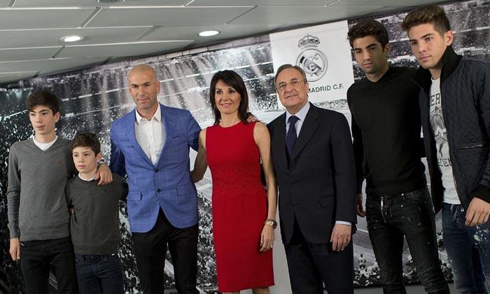 Zidane, nuevo entrenador del Real Madrid, ¿conoces a su familia?