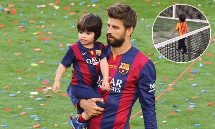 Milan Piqué no solo quiere ser como papá, ahora se atreve con el tenis