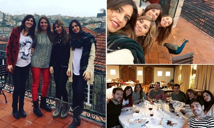 Reunión de periodistas en Oporto: Sara Carbonero recibe a sus amigas