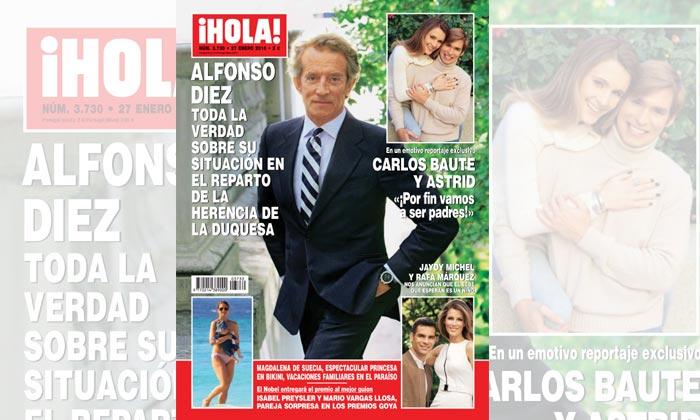 En ¡HOLA!, Alfonso Diez, toda la verdad sobre su situación en el reparto de la herencia de la Duquesa