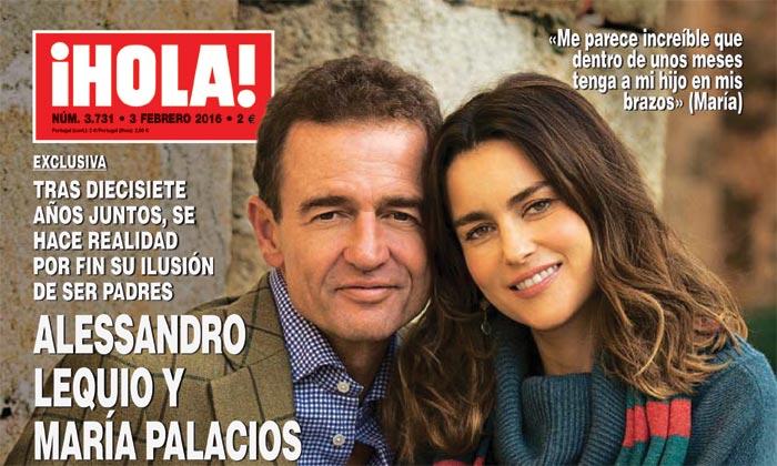 Exclusiva en ¡HOLA!, Alessandro Lequio y María Palacios anuncian emocionados que esperan un hijo