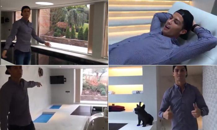 Cristiano ronaldo abre el spa de su casa y revela algo curioso - Fotos de la casa de cristiano ronaldo ...