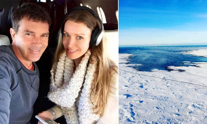 La ruta helada de Antonio Banderas y Nicole Kimpel