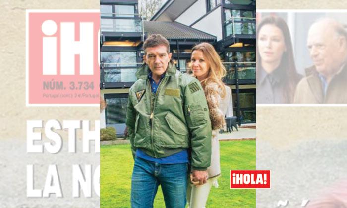 Exclusiva en ¡HOLA!: Antonio Banderas y Nicole Kimpel nos reciben en su fantástica casa del sur de Londres