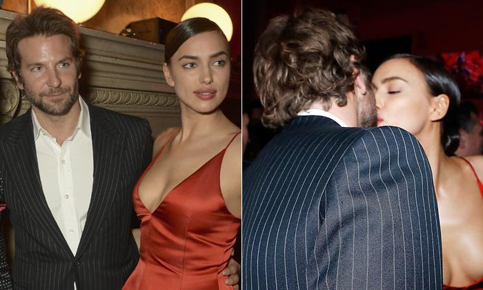 ¡Por fin! El beso de Irina Shayk y Bradley Cooper