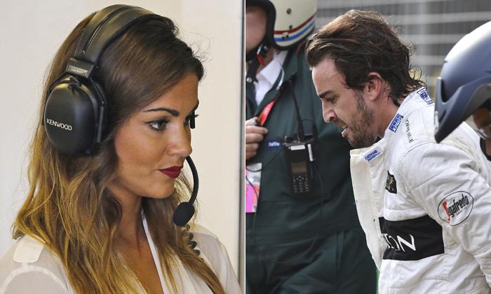 Fernando Alonso se recupera de su accidente sin Lara Álvarez
