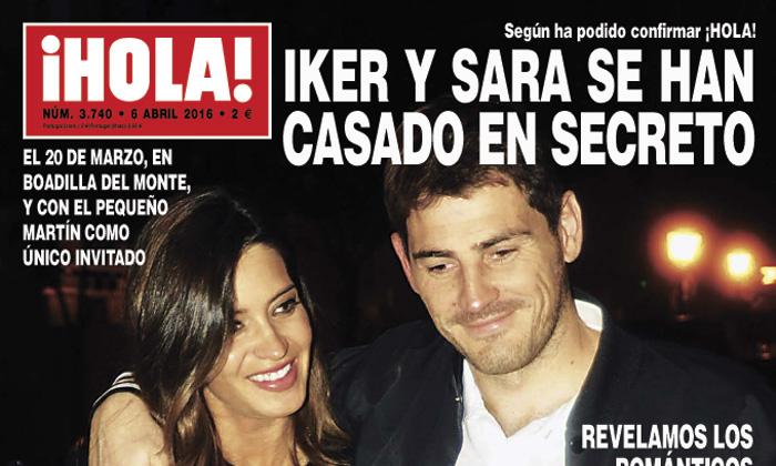 Primicia en ¡HOLA!: Iker Casillas y Sara Carbonero se han casado en secreto