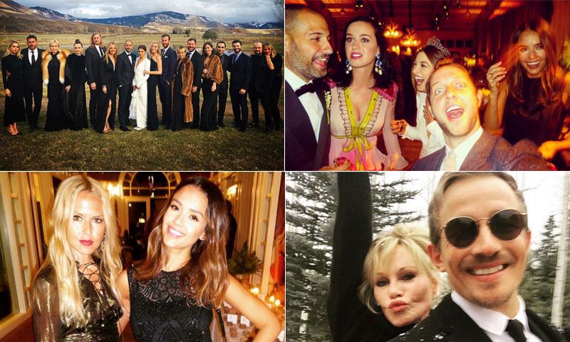 Estrellas de Hollywood, cantantes, 'celebrities'… ¡Todos de boda a Aspen!