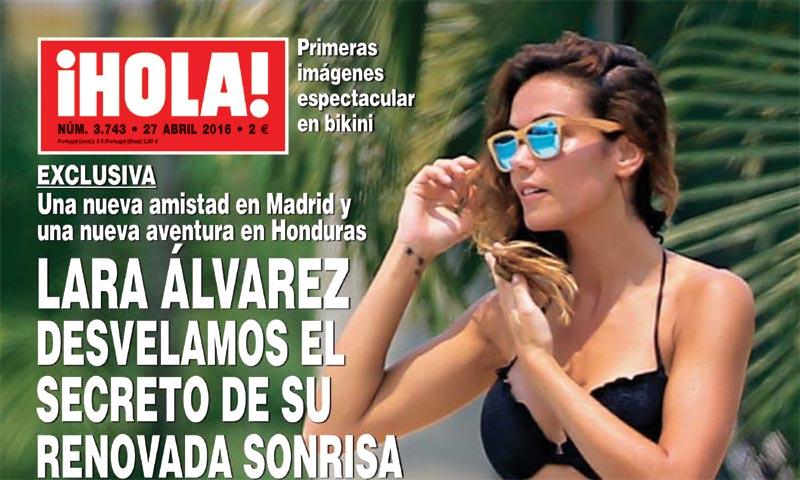 Exclusiva en ¡HOLA!, Lara Álvarez, desvelamos el secreto de su renovada sonrisa