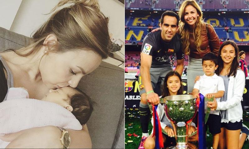 Después de un susto, Claudio Bravo, portero el Barça, ya tiene a su bebé en casa
