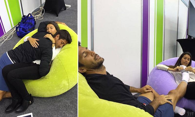 Ana Boyer y Fernando Verdasco, al mal tiempo... ¡masajes y abrazos!
