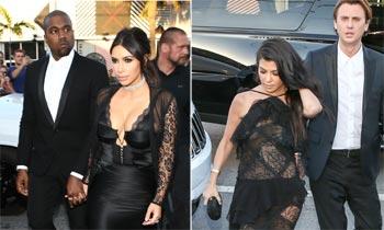 FOTOGALERÍA: Las Kardashian se van de boda con su 'look' más extravagante
