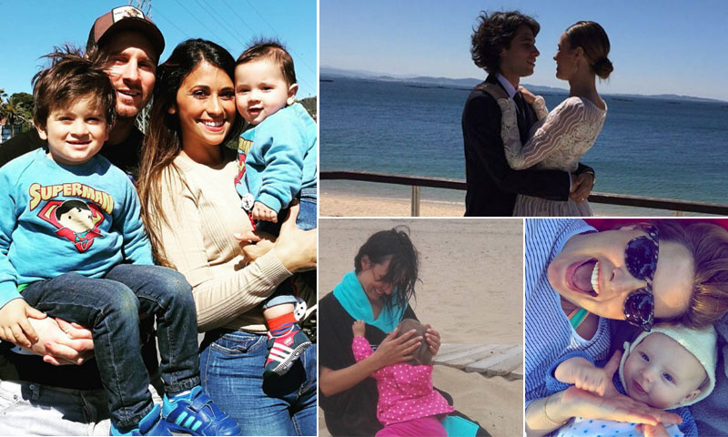 Xenia Tostado, Jessica Bueno, Antonella Roccuzzo... abren sus álbumes familiares en el Día de la Madre