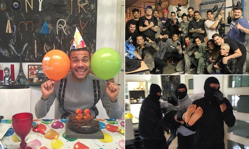 El loco cumpleaños de Dani Alves con secuestro y batalla de 'paintball'