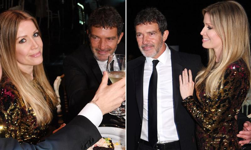 Antonio Banderas y Nicole Kimpel, miradas y gestos que lo dicen todo