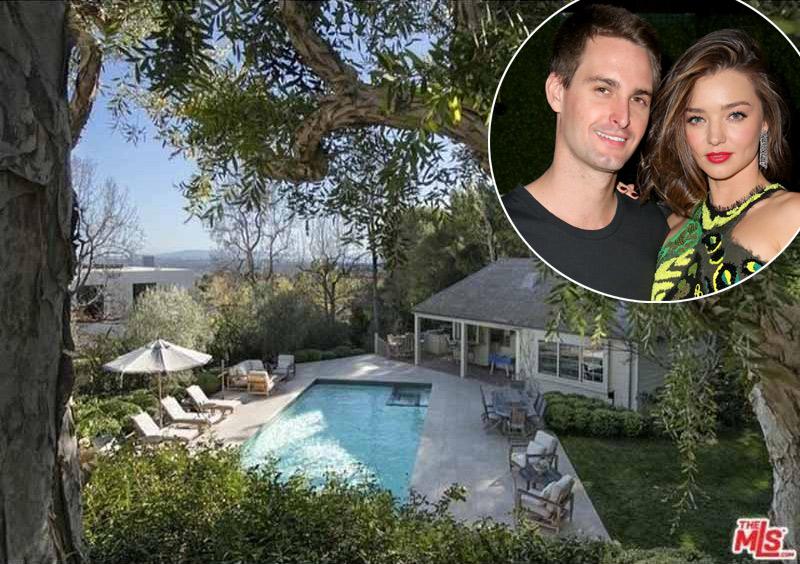 ¡Esto va en serio! Miranda Kerr y Evan Spiegel se compran una espectacular casa en California