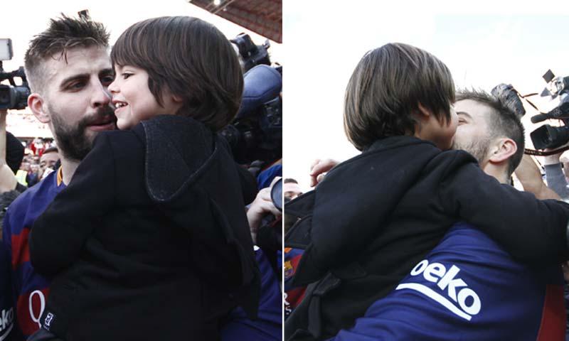 Milan Piqué celebra el último triunfo de papá