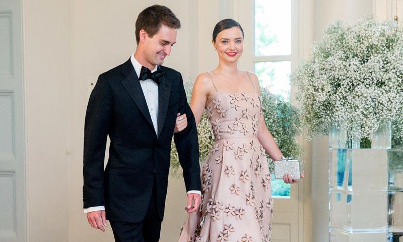 Miranda Kerr conquista la Casa Blanca del brazo de su novio