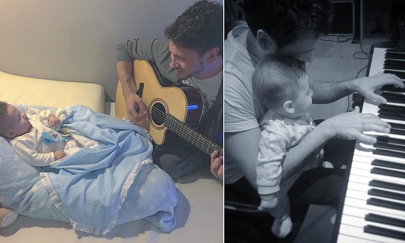¡Qué ternura! David de María inculca a su hijo su pasión por la música