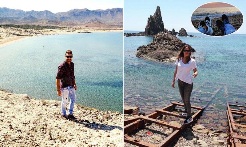 David Bisbal vive unos 'días mágicos' con su novia en Almería