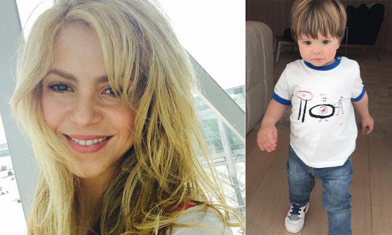 Shakira presume de su hijo Sasha desde Colombia