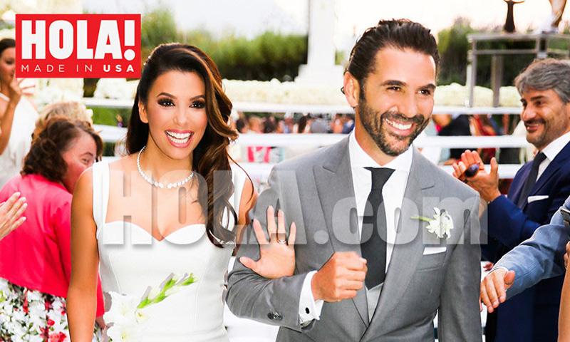 Eva Longoria comparte la foto de su boda de HOLA! USA: 'El día más feliz de mi vida'