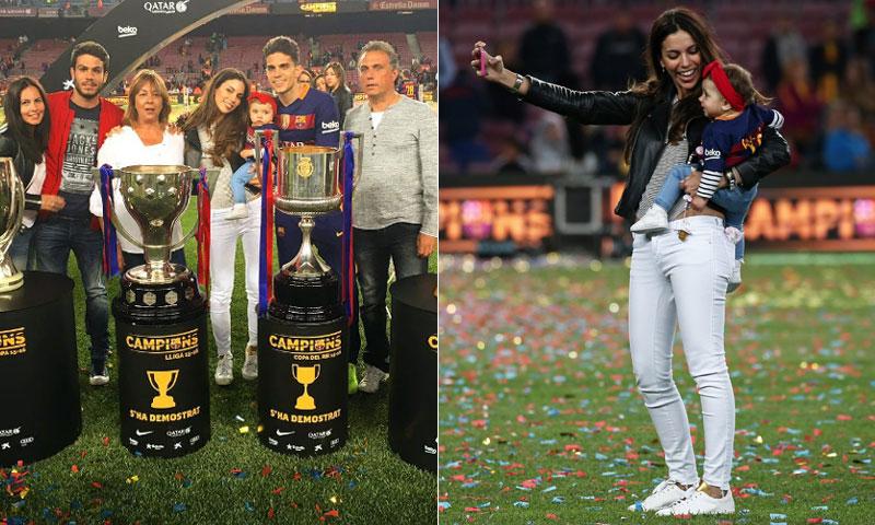 Melissa Jiménez, al lado de Marc Bartra en una celebración ¿con sabor a despedida?
