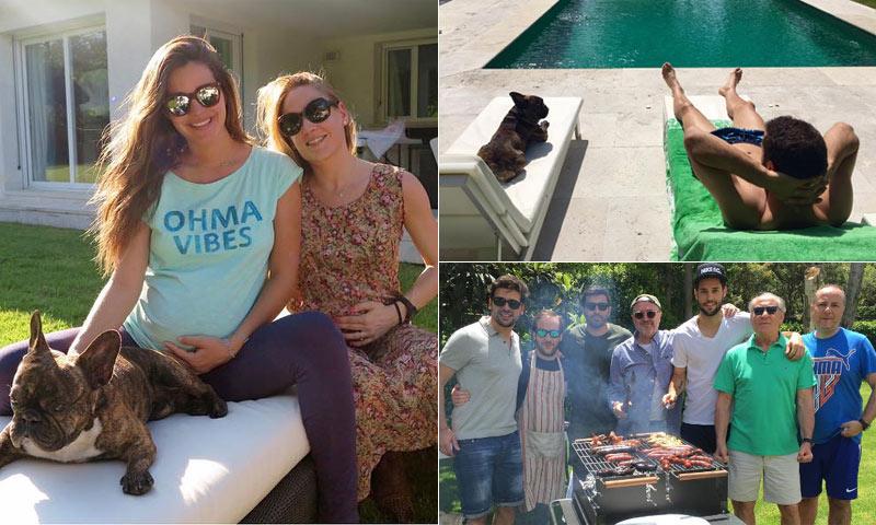 A punto de ser padres, Malena Costa y Mario Suárez ya están en España