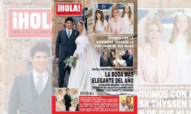 En ¡HOLA!, las mejores imágenes y los detalles exclusivos del enlace de Alejandro Santo Domingo y Lady Charlotte Wellesley