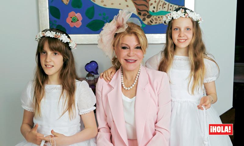 Fotografías exclusivas en ¡HOLA!, vivimos con la Baronesa Thyssen la comunión de sus hijas