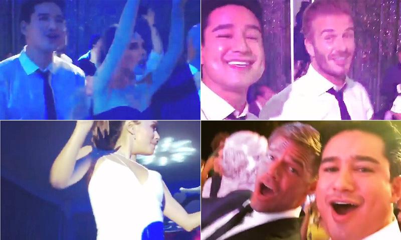 Los Beckham lo dan todo en la boda de Eva Longoria, ¡no te pierdas sus movimientos de caderas!