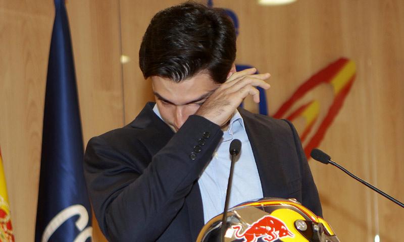 Las lágrimas de Carlos Sainz Jr. al recordar a María de Villota