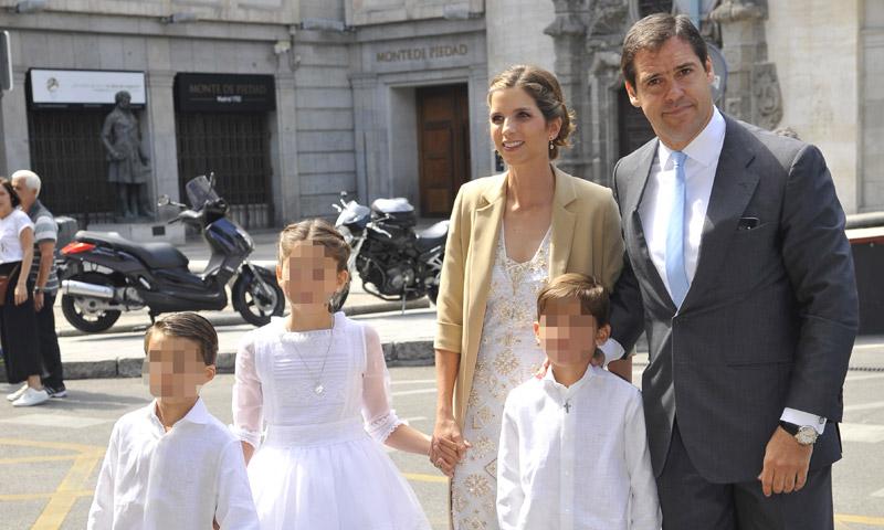 La emotiva comunión de la hija de Luis Alfonso de Borbón y Margarita Vargas