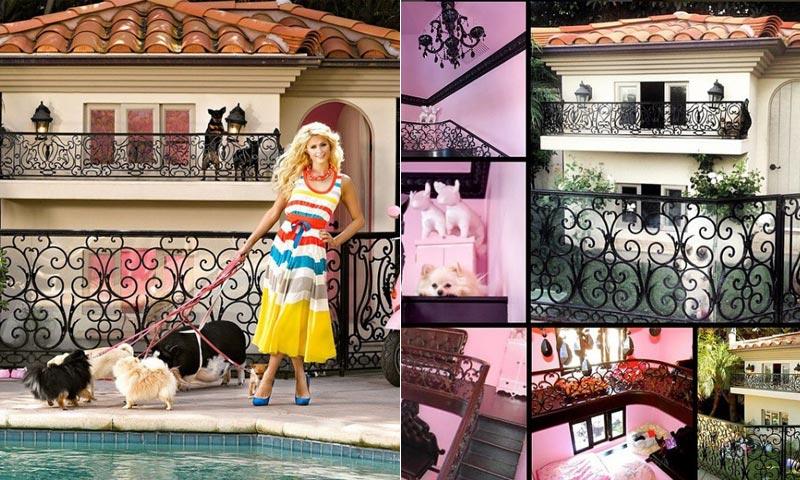 Ni te imaginas cómo es la espectacular mansión para perros de Paris Hilton