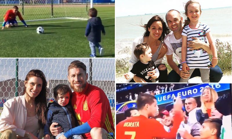 Besos de celebración, reuniones familiares y hasta un 'gol' a Sergio Ramos: las visitas más especiales a los chicos de la selección