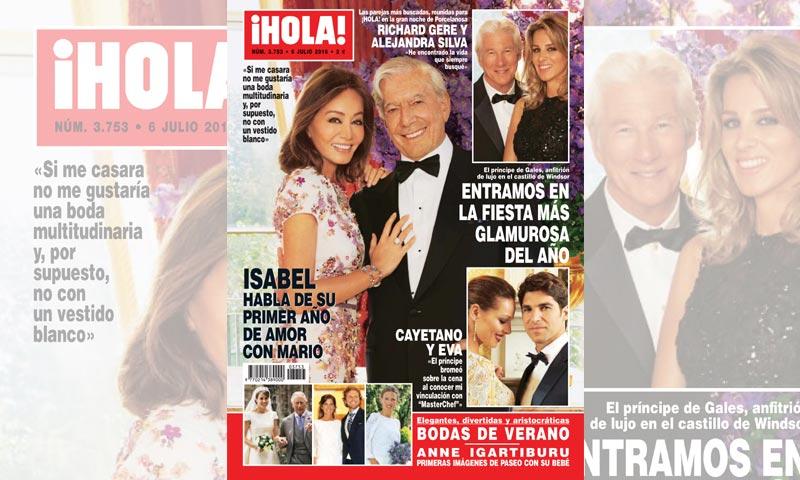 Isabel Preysler habla de su primer año de amor con Mario Vargas Llosa: 'Si me casara no me gustaría una boda multitudinaria y, por supuesto, no con un vestido blanco'