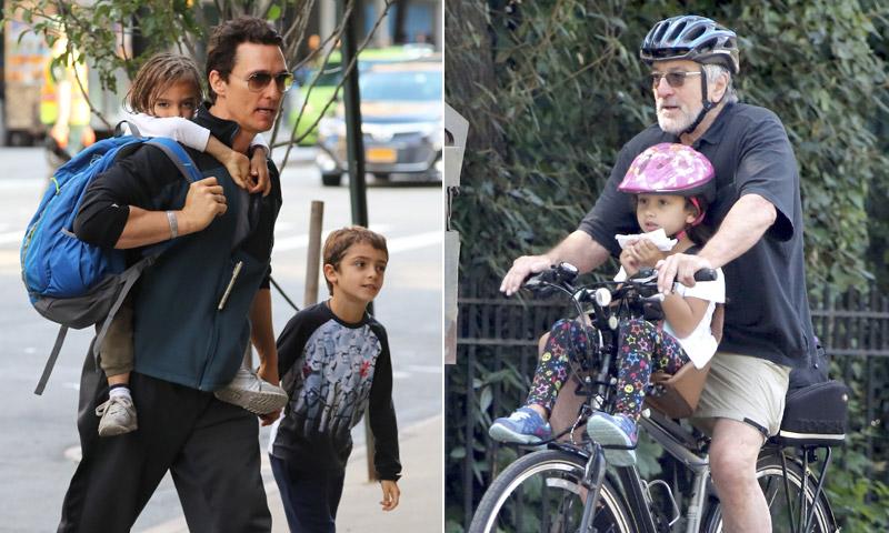 FOTOGALERÍA: Robert de Niro, Matthew McConaughey... papás de cine, ¡con sus hijos a todas partes!