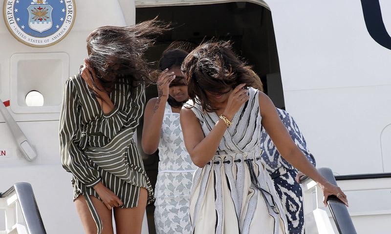 Malia Obama y la anécdota de su vestido a su llegada a Madrid