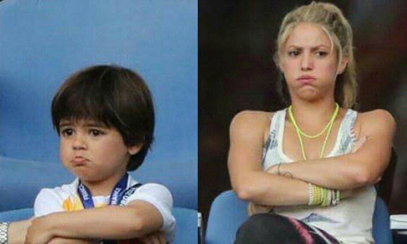 Shakira se pregunta a quién habrá salido Milan con una divertida foto de los dos
