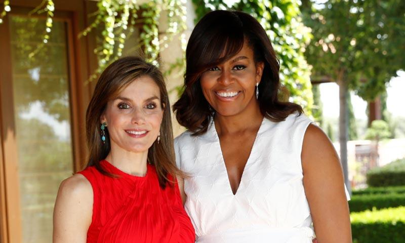 En vídeo: los momentos más significativos del encuentro de dos buenas amigas, Michelle Obama y la reina Letizia
